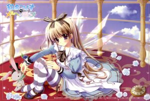 Rating: Safe Score: 69 Tags: alice alice_in_wonderland dress izumi_tsubasu thighhighs wings User: SubaruSumeragi