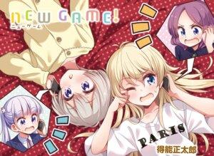 Rating: Safe Score: 16 Tags: business_suit hoshikawa_hotaru new_game! pajama suzukaze_aoba tokunou_shoutarou tooyama_rin yagami_kou User: kiyoe