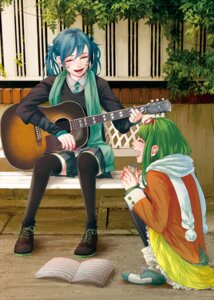 Rating: Safe Score: 10 Tags: guitar gumi hannyag hatsune_miku megane thighhighs vocaloid User: animeprincess