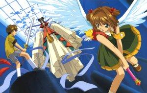 Rating: Safe Score: 2 Tags: card_captor_sakura dress kerberos kinomoto_sakura li_syaoran madhouse madoushi sword wings User: Omgix