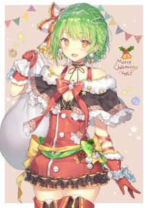 Rating: Safe Score: 77 Tags: christmas cleavage dress momoko_(momopoco) signed thighhighs User: Mr_GT
