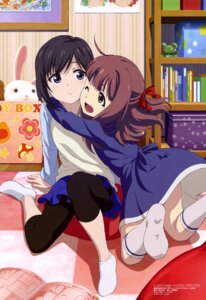 Rating: Safe Score: 61 Tags: dress feet fujii_masahiro homura_suzuko lostorage_incited_wixoss morikawa_chinatsu User: drop