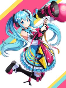 Rating: Safe Score: 24 Tags: hatsune_miku headphones tagme thighhighs vocaloid User: saemonnokami