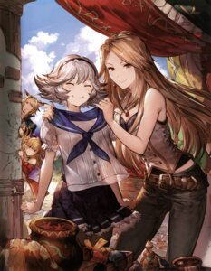Rating: Safe Score: 63 Tags: animal_ears cleavage granblue_fantasy katarina_(granblue_fantasy) minaba_hideo pantyhose vila_(granblue_fantasy) User: shineri