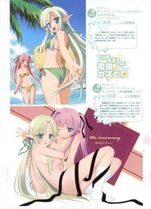 Rating: Questionable Score: 23 Tags: ass bikini charlott_camile_herlingum cleavage elf favorite naked naked_ribbon pointy_ears ruru_guno_janus_enfinus shida_kazuhiro swimsuits wiz_anniversary yuri User: fireattack