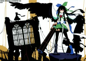Rating: Safe Score: 27 Tags: fixed ideolo kaenbyou_rin neko_worki reiuji_utsuho thighhighs touhou wings User: fg5823820
