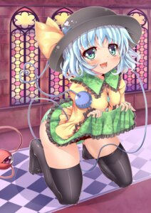 Rating: Questionable Score: 24 Tags: cameltoe kanna211 komeiji_koishi pantsu shimapan skirt_lift thighhighs touhou User: ddns001