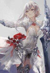 Rating: Safe Score: 61 Tags: cleavage dress kohzuki_kei sinoalice sword thighhighs User: nphuongsun93
