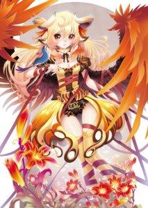 Rating: Safe Score: 35 Tags: animal_ears horns maeda_hiroyuki thighhighs wings User: MadMan