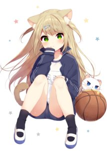 Rating: Safe Score: 48 Tags: animal_ears basketball buruma gym_uniform mafuyu_(chibi21) neko nekomimi tail User: charunetra