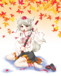 Rating: Safe Score: 12 Tags: animal_ears aonagi_ibane inubashiri_momiji sword tail touhou User: Mr_GT