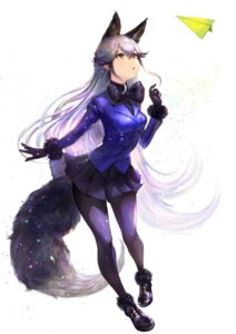 Rating: Safe Score: 29 Tags: animal_ears kemono_friends kitsune pantyhose shogo_(shogo) silver_fox tail User: Nepcoheart