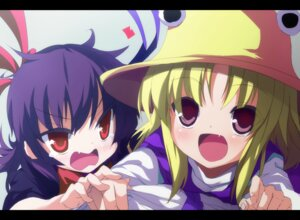Rating: Safe Score: 11 Tags: houjuu_nue moriya_suwako shimeji_nameko touhou User: Radioactive