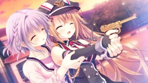 Rating: Safe Score: 45 Tags: asuka_minato cleavage game_cg gun jpeg_only ogaki_hinata otome_domain palette_qualia tatekawa_mako trap uniform User: Shey_Liu