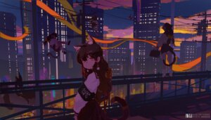 Rating: Questionable Score: 12 Tags: animal_ears dm_(dai_miao) nekomimi seifuku skirt_lift tail User: Dreista