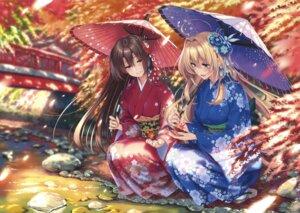 Rating: Safe Score: 75 Tags: kimono piromizu umbrella User: Twinsenzw