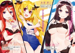 Rating: Questionable Score: 21 Tags: bikini breast_hold cleavage dress kane_wa_haisha_no_mawarimono megane mika_pikazo school_swimsuit swimsuits underboob User: kiyoe