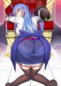 Rating: Questionable Score: 60 Tags: ass hinanawi_tenshi neropaso pantsu shimapan thighhighs touhou User: Nepcoheart