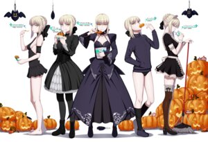 Rating: Safe Score: 50 Tags: amase_(yagami666) buruma cleavage dress fate/grand_order fate/stay_night gothic_lolita halloween heels lolita_fashion maid no_bra pantyhose saber saber_alter sweater thighhighs User: Mr_GT