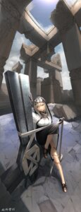 Rating: Safe Score: 12 Tags: nun skirt_lift tagme weapon User: BattlequeenYume