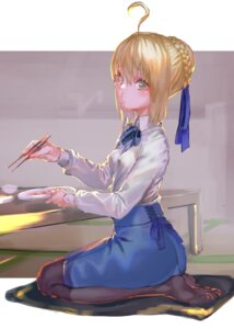 Rating: Safe Score: 30 Tags: fate/stay_night pantyhose rolua saber User: Mr_GT