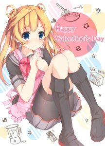 Rating: Safe Score: 54 Tags: abukuma_(kancolle) bike_shorts ezoshika kantai_collection seifuku valentine User: Mr_GT