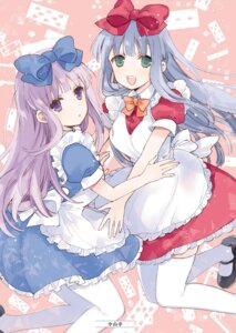Rating: Safe Score: 18 Tags: airi_(alice_or_alice) alice_or_alice_siscon_nii-san_to_futago_no_imouto nakayama_miyuki rise_(alice_or_alice) thighhighs User: yoyokirby
