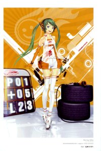 Rating: Safe Score: 43 Tags: color_issue hatsune_miku racing_miku redjuice thighhighs vocaloid User: Radioactive