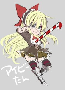 Rating: Safe Score: 6 Tags: armor eyepatch flower_knight_girl ivy kurokawa_izumi no_background sketch thighhighs User: zyll