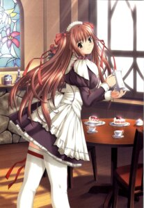 Rating: Safe Score: 21 Tags: kazami_yui maid nekonyan parfait_chocolate_second_brew thighhighs User: fireattack