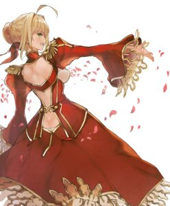 Rating: Questionable Score: 45 Tags: ass dress fate/extra fate/stay_night saber_extra see_through tokopi User: Mr_GT