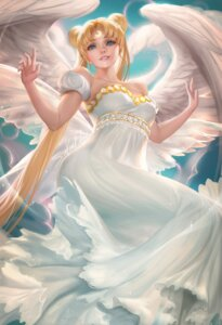 Rating: Safe Score: 38 Tags: cleavage dress princess_serenity sailor_moon sakimichan signed wings User: charunetra
