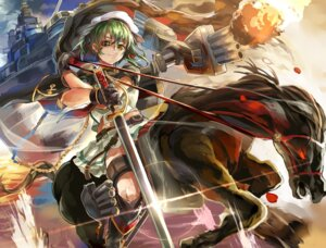 Rating: Safe Score: 14 Tags: eyepatch himuro kantai_collection sword User: ferkunxd