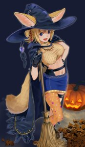Rating: Safe Score: 29 Tags: animal_ears garter halloween kitsune nashigaya_koyomi tail witch User: Mr_GT