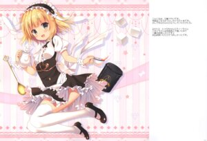 Rating: Safe Score: 30 Tags: chocolate_cube gochuumon_wa_usagi_desu_ka? heels kirima_sharo miwa_futaba thighhighs waitress User: kiyoe