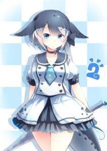 Rating: Safe Score: 9 Tags: kanzakietc kemono_friends narwhal seifuku tail weapon User: Mr_GT