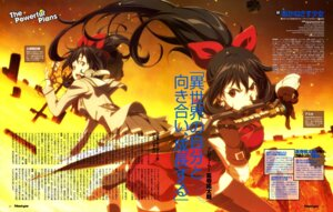 Rating: Safe Score: 16 Tags: akanesasu_shoujo harada_hiroki headphones seifuku sword thighhighs tsuchimiya_asuka User: drop