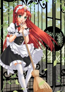 Rating: Safe Score: 30 Tags: hong_meiling maid meiki thighhighs touhou User: Mr_GT