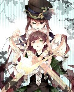 Rating: Safe Score: 9 Tags: heterochromia lolita_fashion rikappp rozen_maiden souseiseki suiseiseki User: charunetra