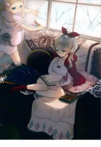 Rating: Questionable Score: 10 Tags: ancotaku lingerie sentiment_color thighhighs User: Radioactive