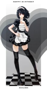 Rating: Safe Score: 69 Tags: maid saitom thighhighs User: fireattack
