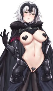 Rating: Explicit Score: 40 Tags: areola armor breasts fate/grand_order jack_dempa jeanne_d'arc jeanne_d'arc_(alter)_(fate) maebari no_bra nopan pantyhose pasties pubic_hair pussy User: Dreista