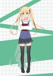 Rating: Safe Score: 22 Tags: l.tea saenai_heroine_no_sodatekata sawamura_spencer_eriri seifuku sweater thighhighs User: saemonnokami