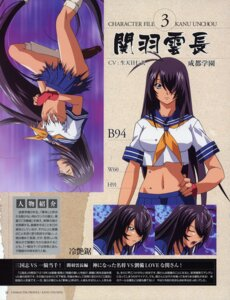 Rating: Safe Score: 10 Tags: ikkitousen kanu_unchou seifuku torn_clothes underboob User: lobin