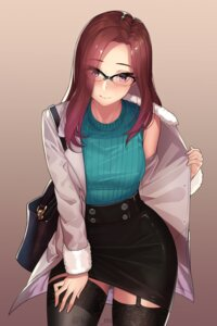 Rating: Safe Score: 66 Tags: kagematsuri megane stockings sweater thighhighs undressing watermark User: Mr_GT