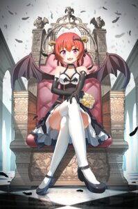 Rating: Safe Score: 105 Tags: ayatarosu cleavage dress gabriel_dropout heels horns kurumizawa_satanichia_mcdowell thighhighs wings User: Mr_GT