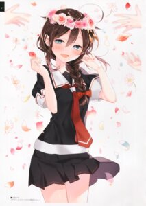 Rating: Questionable Score: 25 Tags: kantai_collection moni naoto seifuku shigure_(kancolle) skirt_lift User: kiyoe