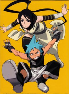 Rating: Safe Score: 9 Tags: binding_discoloration black_star nakatsukasa_tsubaki scanning_dust soul_eater User: hecfa