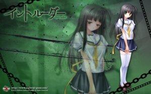 Rating: Safe Score: 24 Tags: intruder material misaki_shizuyo seifuku thighhighs wallpaper yamamoto_kazue User: girlcelly