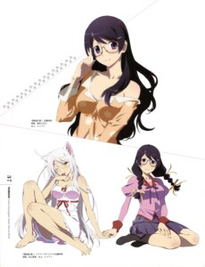 Rating: Safe Score: 51 Tags: animal_ears bakemonogatari black_hanekawa hanekawa_tsubasa megane muroi_fumie nekomimi pajama seifuku sugiyama_nobuhiro User: drop